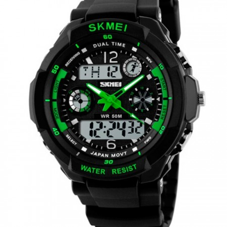 Skmei S-Shock Green 0931